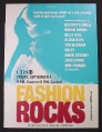 Magazine Ad for Fashion Rocks TV Show, CBS, 2005