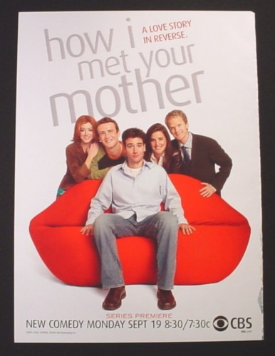 Magazine Ad for How I Met Your Mother TV Show, 2005