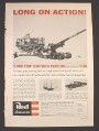 Magazine Ad for Revell Model Kit, Long Tom Gun With Tractor, 1957