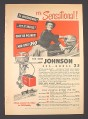 Magazine Ad for Johnson Sea-Horse 25 Outboard Motor, $390, 1951