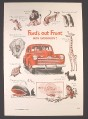 Magazine Ad for Ford's Out Front With Everybody, Animals, Cars, 1946