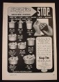 Magazine Ad for Snap-Tite Adjustable Stoppers, Thermos, 1954