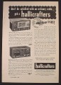 Magazine Ad for Hallicrafters Radios, Model S-53A S-76, Hear It All, 1953