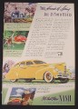 Magazine Ad for Nash Yellow 4-Door Sedan, $770, 1939