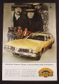Magazine Ad for Olds Vista Cruiser Station Wagon, Western Movie Scene, 1968