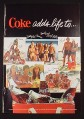 Magazine Ad for Coke Adds Life To, Coca-Cola, People At The Beach, 1966
