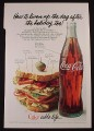Magazine Ad for Coke Coca-Cola Bottle, Liven Up The Day, 1978