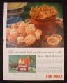 Magazine Ad for Sun-Maid Raisins, Best Cookies Are Made with Sun-Kist, 1961