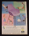 Magazine Ad for Avisun Form Fit Polypropylene Flexible Chairs, 1961