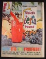 Magazine Ad for Welch's Fiesta Punch, It's The Fruitiest, 1961