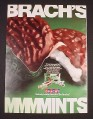 Magazine Ad for Brach's Thin Mints, Peppermint Chocolate, 1985