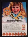 Magazine Ad for Libby's Solid Pack Pumpkin in a Can, Girl in Clown Costume with Cookie