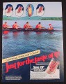 Magazine Ad for Diet Coke, Rowers Thinking of Coke Except One Thinking  Of Girl, 1985