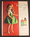 Magazine Ad for Vermont Maid Doll Offer, Vermont Maid Syrup, 1964, 8 1/4 by 11