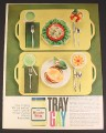 Magazine Ad for Tray Gay, Miracle Whip, Meals on Serving Trays, 1964, 8 1/4 by 11