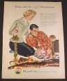 Magazine Ad for Pepsi-Cola Pepsi, Couple Playing Chess by Fireplace, 1957, 8 1/4 by 11