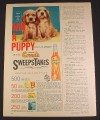 Magazine Ad for Orange Crush Soda, Win A Puppy Sweepstakes, 1963, 2/3 of an 8 1/4 by 11 page