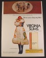 Magazine Ad for Virginia Slims Cigarettes, Atlantic City Beauty Pageant, 1972, 8 1/4 by 11