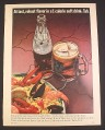 Magazine Ad for Tab 1 Calorie Soft Drink, Bottle & Mug, Seafood, 1965, 8 1/4 by 11