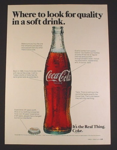 magazine ad for coca cola coke bottle cap where to look for quality 1973 magazines ads and. Black Bedroom Furniture Sets. Home Design Ideas