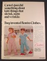 Magazine Ad for Carter's Remira Children's Clothes, Sleepers, 1970