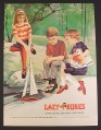 Magazine Ad for Lazy Bones Boys & Girls Shoes, Sailboat, 1973