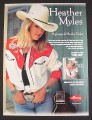 Magazine Ad for Heather Myles Highways & Honky Tonks Album, 1999