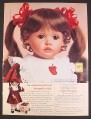 Magazine Ad for Apple Dumpling Doll, Ann Timmerman, Georgetown Collection, 1998