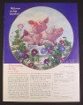 Magazine Ad for Hamming It Up Collector Plate, Joan Wright, Danbury Collection, 1998