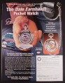 Magazine Ad for Dale Earnhardt Pocket Watch, Franklin Mint, 1999