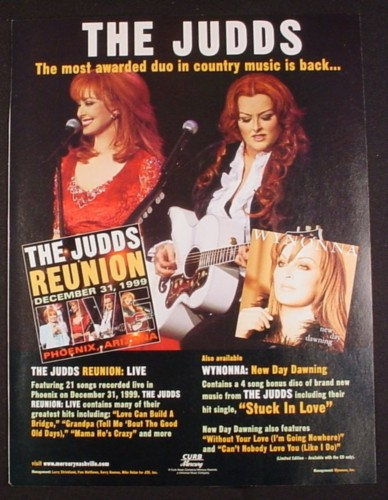 Magazine Ad for The Judds Reunion Album, 2000