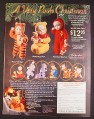 Magazine Ad for Winnie The Pooh Babies Christmas Ornaments, Heirloom, 2000