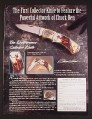 Magazine Ad for The Deliverance Collector Knife, Chuck Ren Artwork, Hamilton Collection, 2000