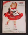 Magazine Ad for Porcelain Madame Alexander Coca-Cola Carhop Doll, Coke Collectible, 2000
