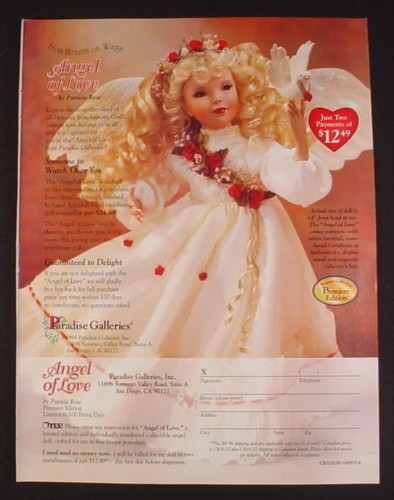 Magazine Ad for Angel of Love Doll, Paradise Galleries, 2000