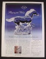 Magazine Ad for Racing The Wind Lead Crystal Horse Sculpture, Lennox, 2000