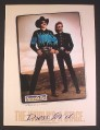 Magazine Ad for Panhandle Slim Country Western Clothing, Brooks & Dunn, 1993