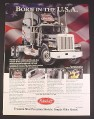 Magazine Ad for Peterbilt Semi Diecast Metal Truck, Franklin Mint, 1993