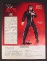 Magazine Ad for Elvis The 68 Comeback Concert Porcelain Doll, Ashton Drake Galleries, 1993