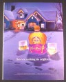 Magazine Ad for Crown Royal, Here's To Outdoing The Neighbors, 2003
