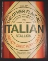 Magazine Ad for Tabasco, Other Flavors Refer To It As Italian Stallion, 2003