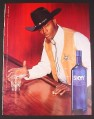 Magazine Ad for Skyy Vodka #36 Straight Up, 2003, Cowboy At Bar, 2003