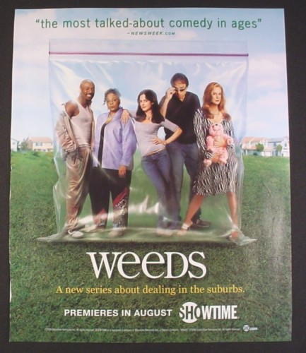 Magazine Ad for Weeds TV Show, Characters In A Baggy, 2005
