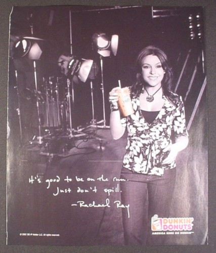 Magazine Ad for Dunkin Donuts, Rachael Ray Celebrity Endorsement, 2007