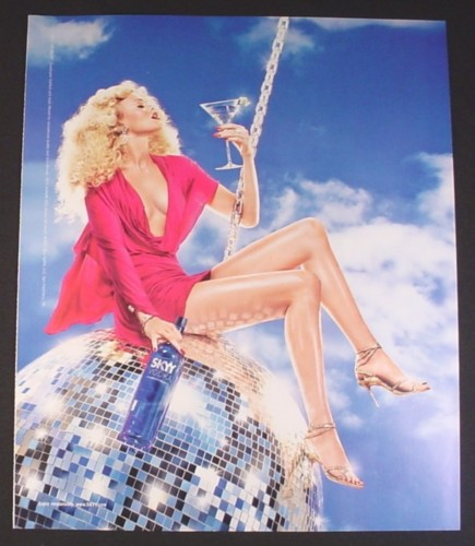 Magazine Ad for Skyy Vodka #72 Heaven, 2007, Sexy Woman On Disco Ball