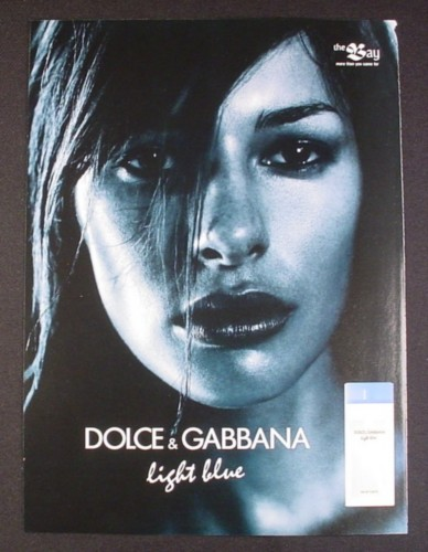 Magazine Ad for Dolce & Gabbana Light Blue Perfume, 2004 ...