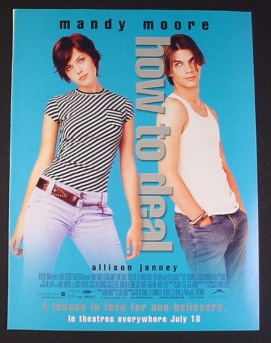 Magazine Ad for How To Deal Movie, Mandy Moore, 2003