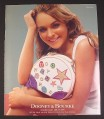 Magazine Ad for Dooney & Bourke Purse, Lindsay Lohan Celebrity Endorsement, 2004