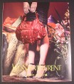 Magazine Ad for Yves Saint Laurent Burgundy Purse, 2004