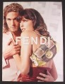Magazine Ad for Fendi Gold & Copper Purse, Fashion, Milla Jovovitch, 2004